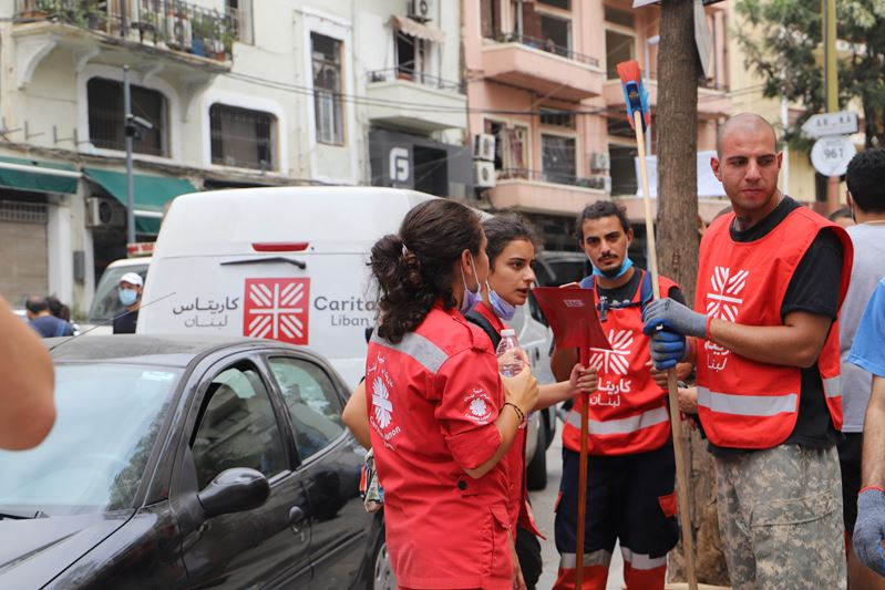 The Caritas Network Is On The Ground Responding To Emergency Needs In Beirut. Photo Caritas Lebanon Min